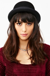Ladies Black Bowler Hat