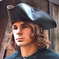 Leather Pirate Hat Picture