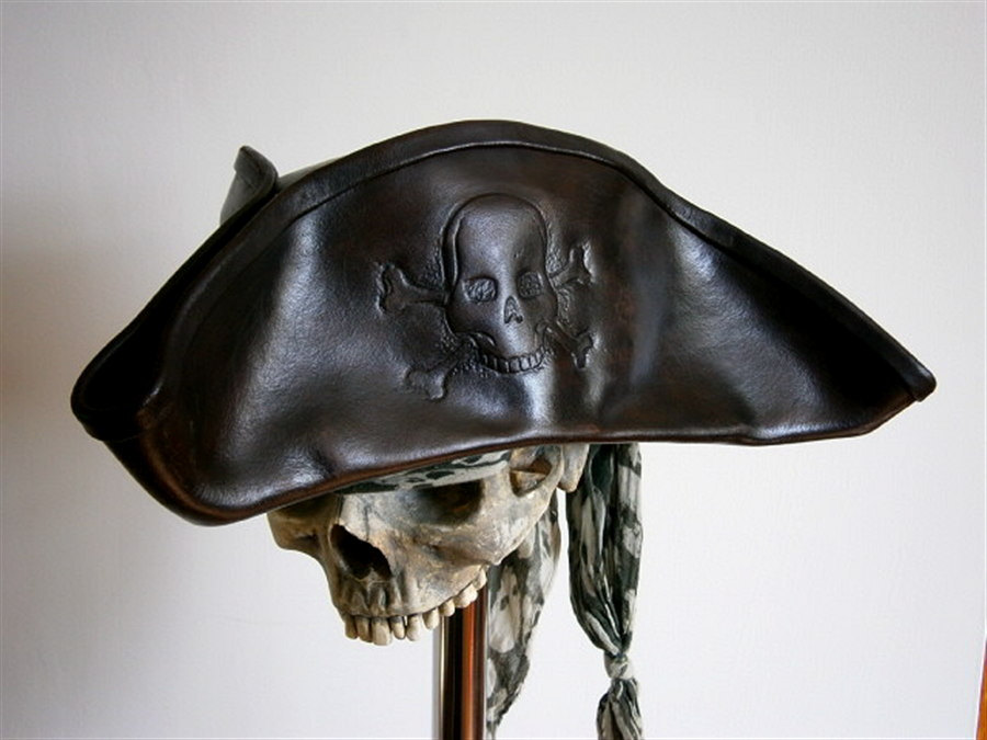 Leather Pirate Hats Tag