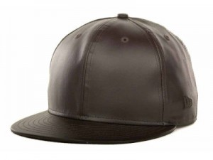 Leather Snapback Hat