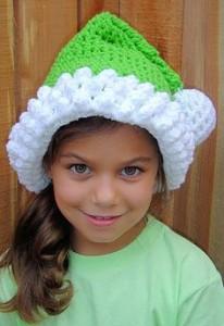 Lime Green Santa Hat