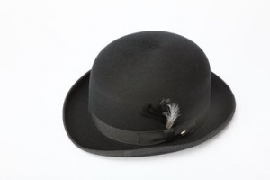 Mens Black Bowler Hat
