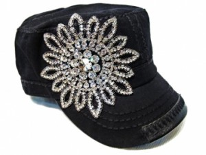 Military Style Hats with Bling