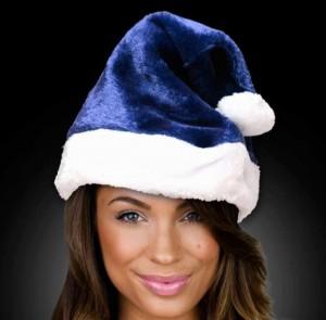 Navy Blue Santa Hat
