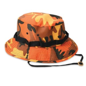 Orange Camo Boonie Hat