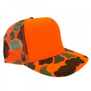 Orange Camo Trucker Hat
