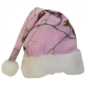 Pink Camo Santa Hat
