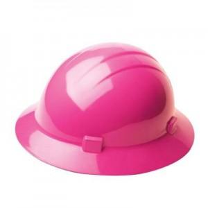 Pink Full Brim Hard Hat