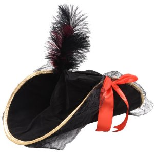 Pirate Captain Hat with Feather
