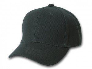 Plain Black Fitted Hat