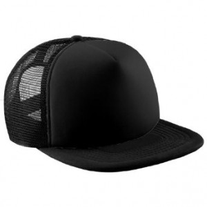 Plain Black Trucker Hat