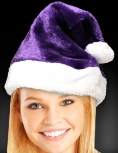 Purple Santa Hats