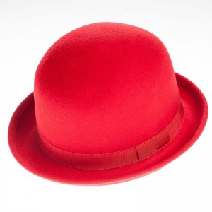 Red Bowler Hat