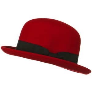 Red Bowler Hat Picture