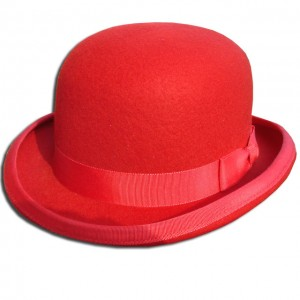 Red Bowler Hats