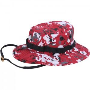Red Camo Boonie Hat