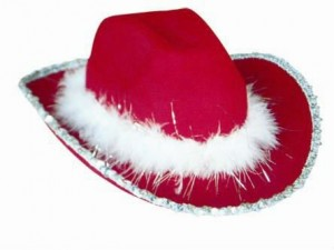 Red Christmas Cowboy Hats