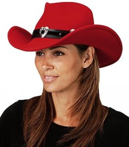 Red Cowboy Hat for Women