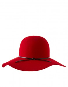 Red Felt Floppy Hat