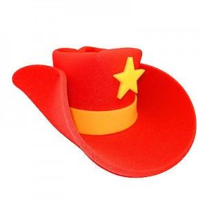 Red Foam Cowboy Hat