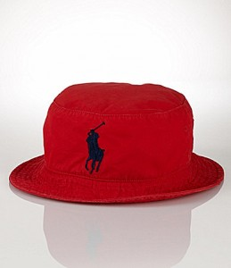 Red Polo Bucket Hat