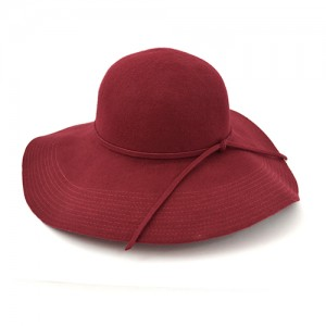 Red Wool Floppy Hat