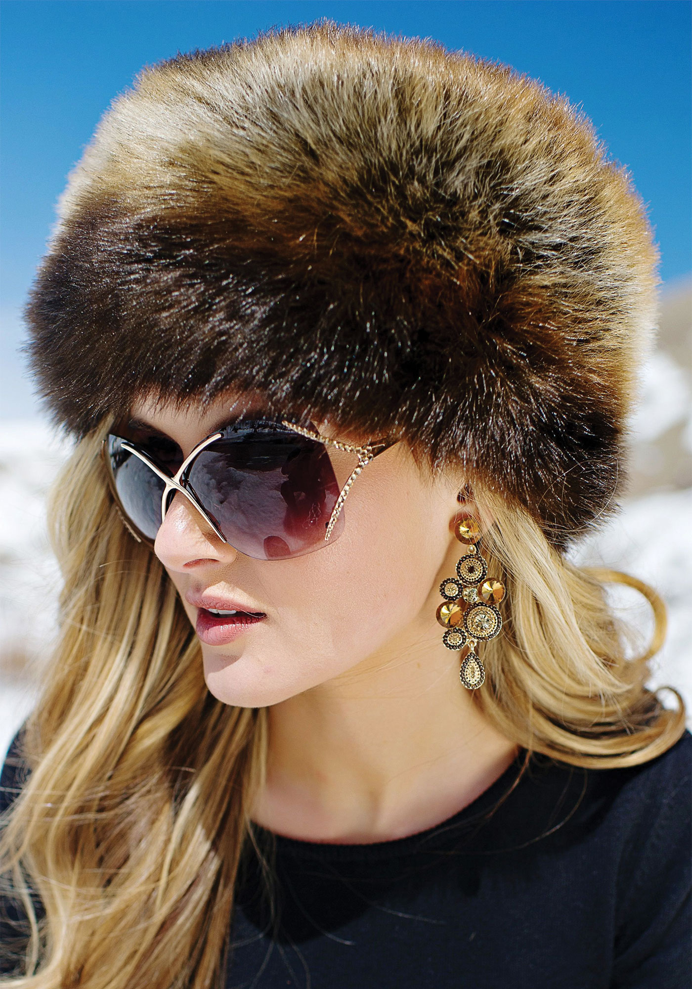 Women's Faux Fur Hat for Winter with Stretch Cossack Russion Style White Warm Cap $ 14 99 Prime. out of 5 stars 2. Futrzane. Faux Fox Fur Winter Mongolian Hat Women Pompom Cossack for Ladies. from $ 26 99 Prime. out of 5 stars QUEENFUR.