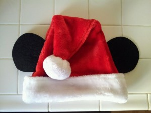 Santa Hat with Mickey Ears