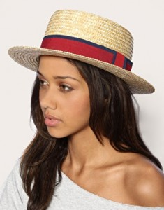Straw Boater Hat Women