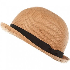 Straw Bowler Hats