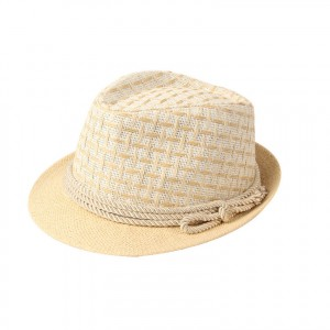 Straw Fedora Hats for Kids