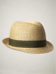 Straw Hat Fedora