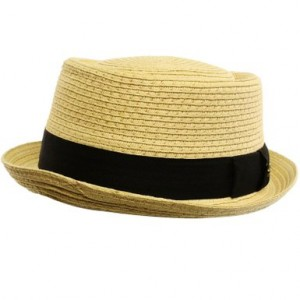 Straw Pork Pie Hats for Men
