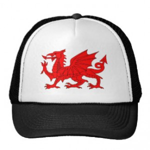 Welsh Dragon Hats