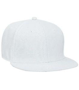 White Blank Snapback Hats