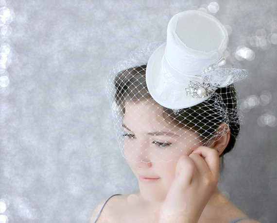 White Bridal Hats