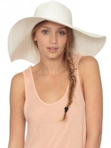 White Felt Floppy Hat
