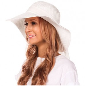 White Floppy Beach Hat