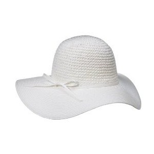 White Floppy Hat Felt