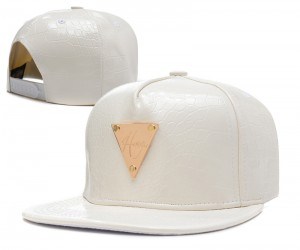 White Leather Snapback Hats
