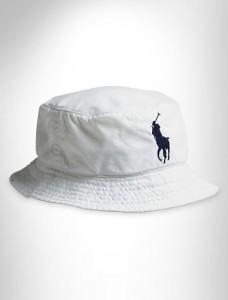 White Polo Bucket Hat