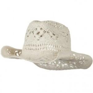 White Straw Cowboy Hat
