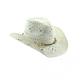 White Straw Cowboy Hat