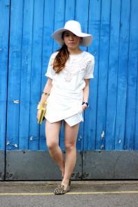 White Wool Floppy Hat