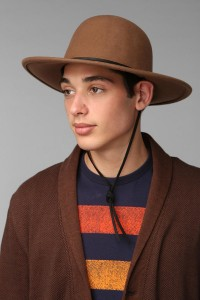 Wide Brim Bowler Hat Mens
