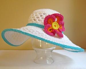 Wide Brim Sun Hat Crochet Pattern