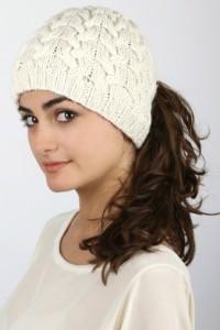 Winter Ponytail Hat