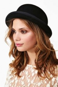 Womens Black Bowler Hat