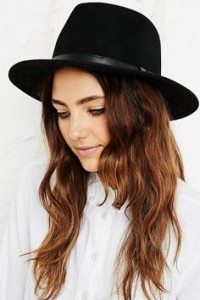 Womens Black Panama Hat