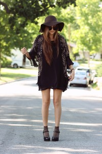 Wool Floppy Hat Outfit